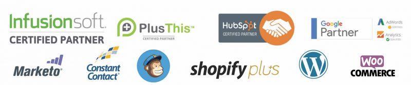 Marketing logos infusionsoft shopify marketo ecommerce mailchimp hubspot